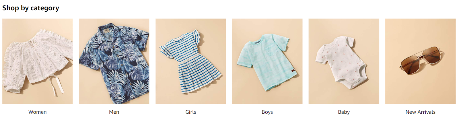 amazon prime wardrobe category selections from mens, womens, children, baby and accessories