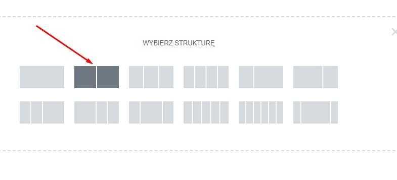 Wybierz strukturę