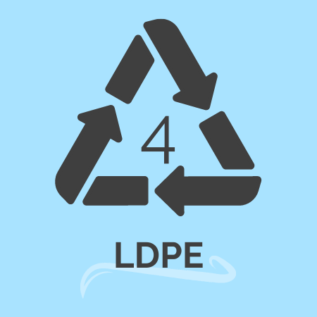 plastic recycling number 4 -LDPE
