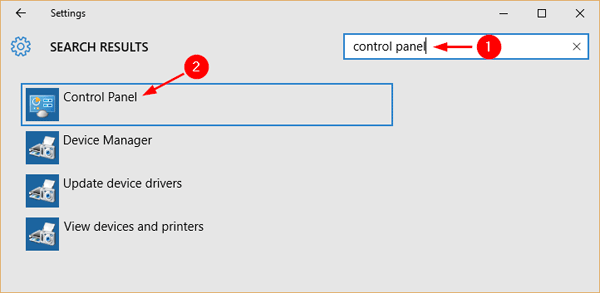 How to open Control Panel