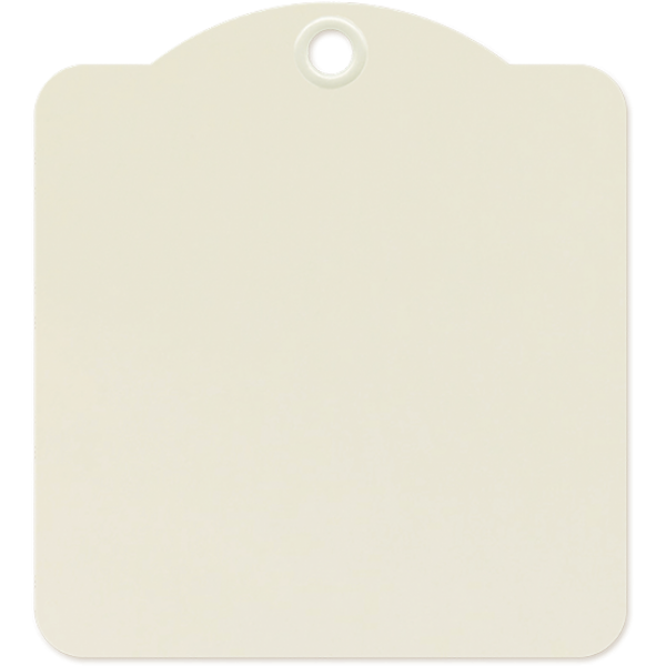 Square Tags—Ivory