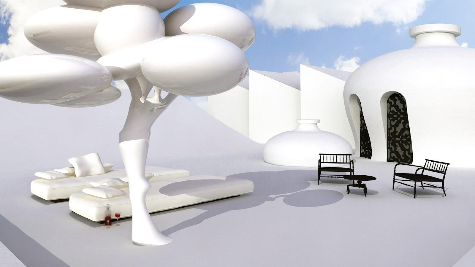 Proyek arsitektur dan interior oleh Marcel Wanders untuk klien pribadi di Jakarta -  source: marcelwanders.com