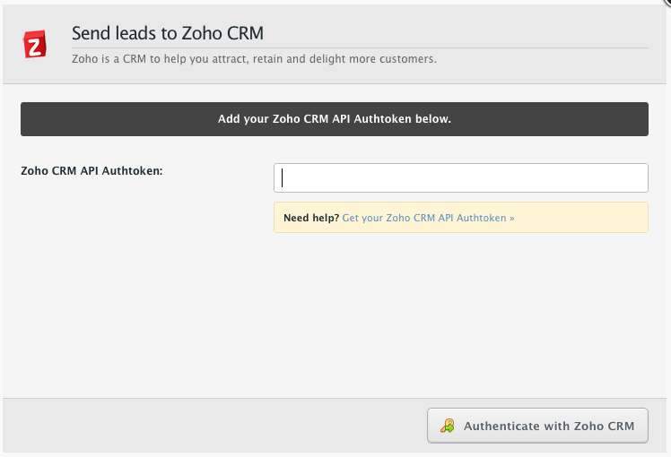 Integrating with Zoho CRM – Documentation