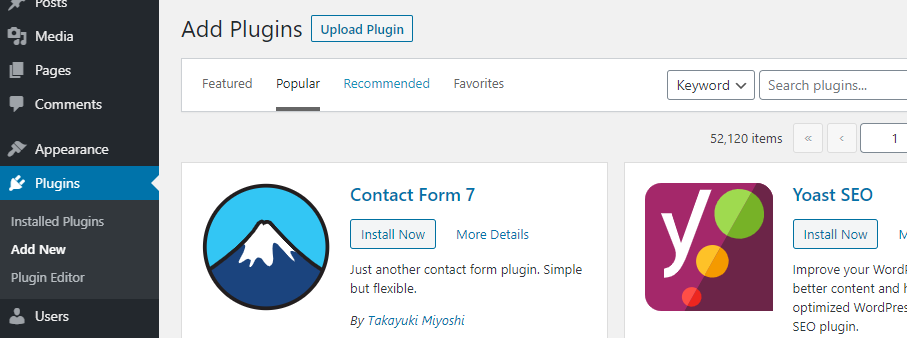 Adding new plugin to WordPress