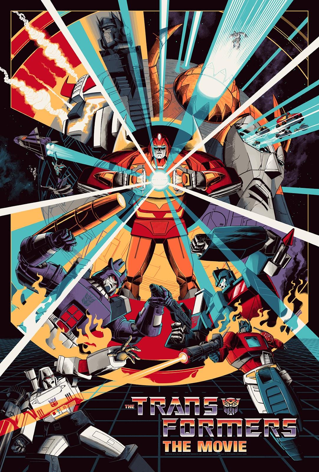 Transformer The Movie has a Nostalgic Screen Print Poster Design