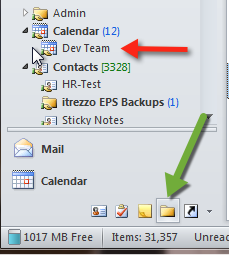 Outlook Sub folder and Folder List view
