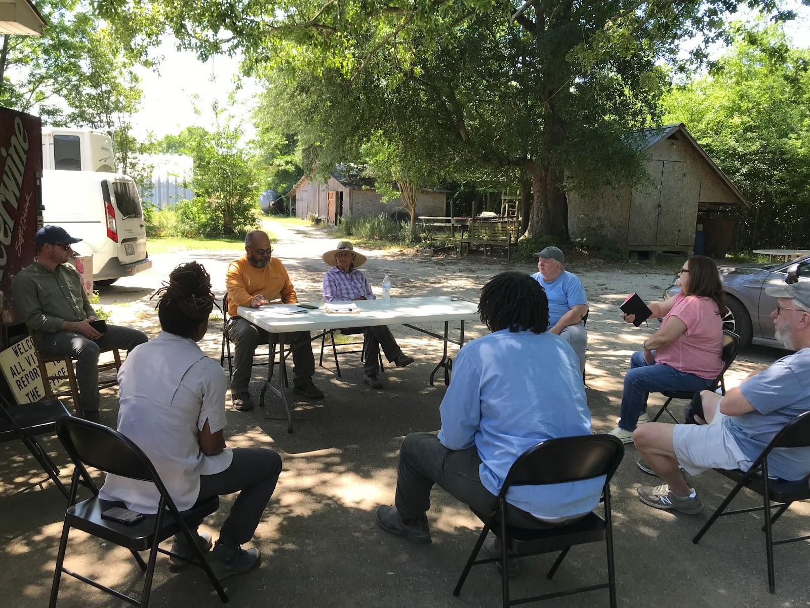 Representatives from RAFI-USA, Cokesbury United Methodist Church (Stedman, NC), and New Ground Farms.