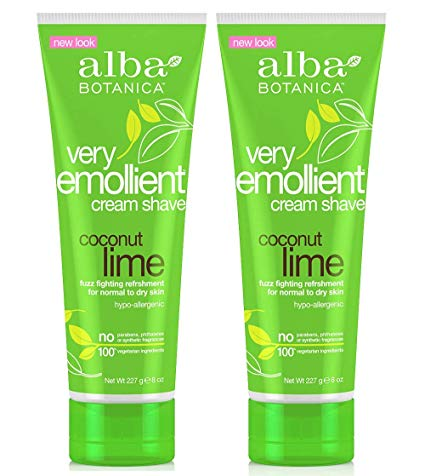 1. Alba Botanica Coconut Lime Shaving Cream