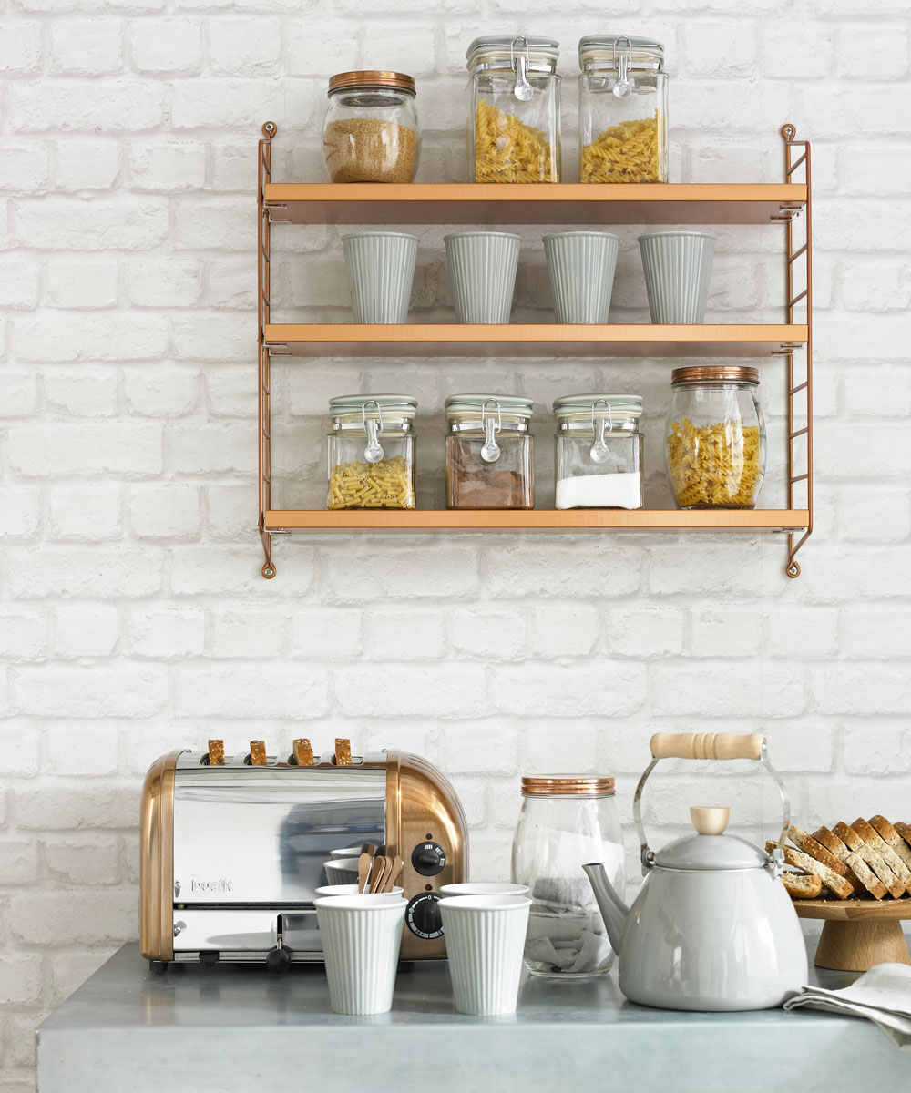 Kitchen Wall Decor With Shelves