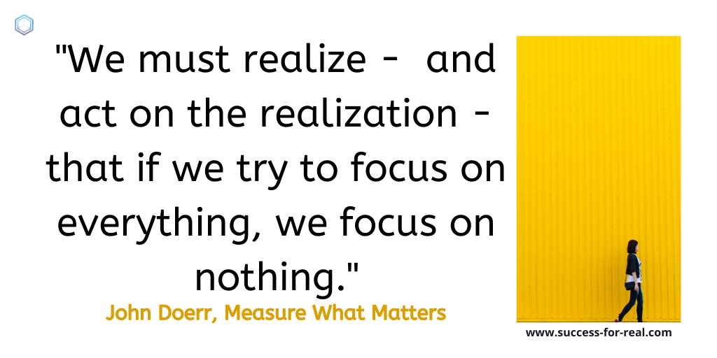 365 Success Quotes For Motivation - Picture Quote By John Doerr, Measure What Matters