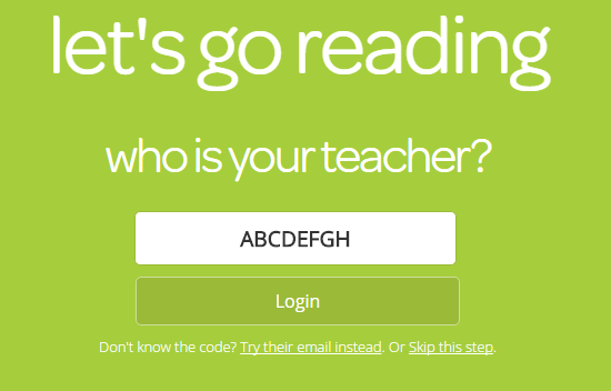 After selecting student there is a field to enter in your teacher's class code