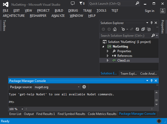 Playing with NuGet