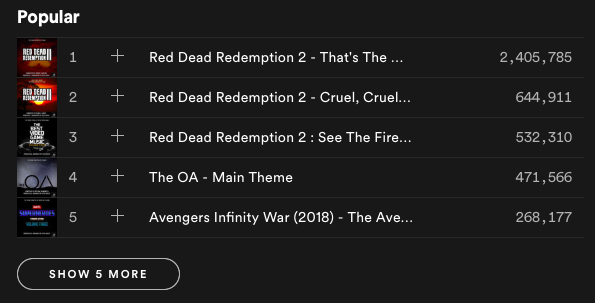 Geek music playlist made up of video game and music soundtracks
