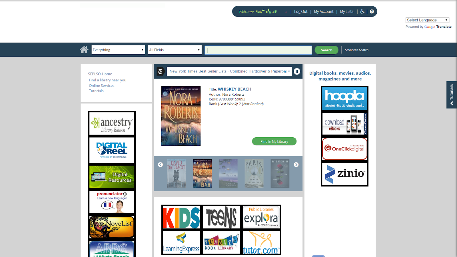 Managing Your Account in the Online Catalog