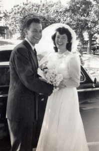 Don and Marian on their wedding day