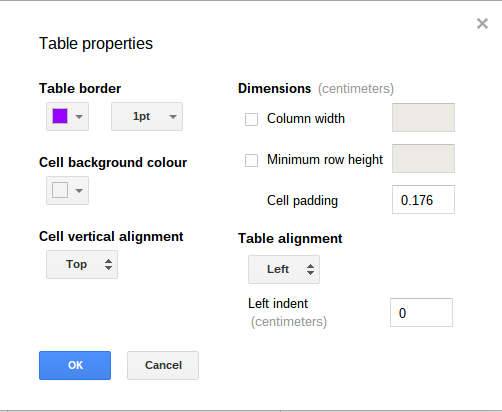 Style Table Cell Borders In Google Docs G Suite Tips