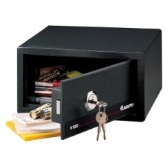 Sentry Safe V120: Small Steel Security Safe 0.41 ft3 Key Lock Internal Size 6.26 x 12.13 x 9.25 Overall Size 6.5 x 12.4 x 11 Black Steel