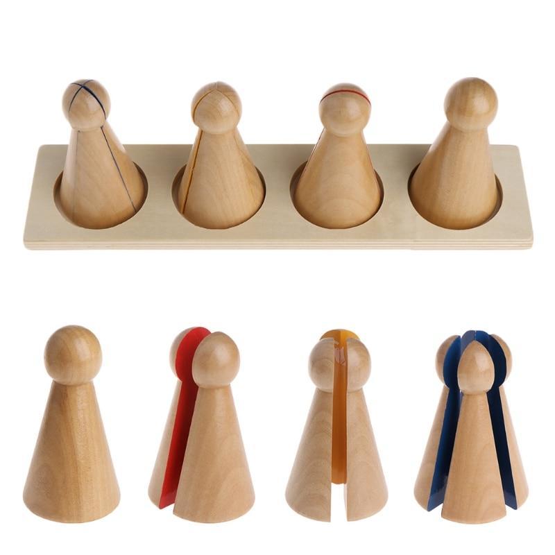 activité montessori fractions compter dénombrer jouet en bois