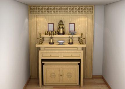 Kiểu dáng kệ thờ Phật tại gia