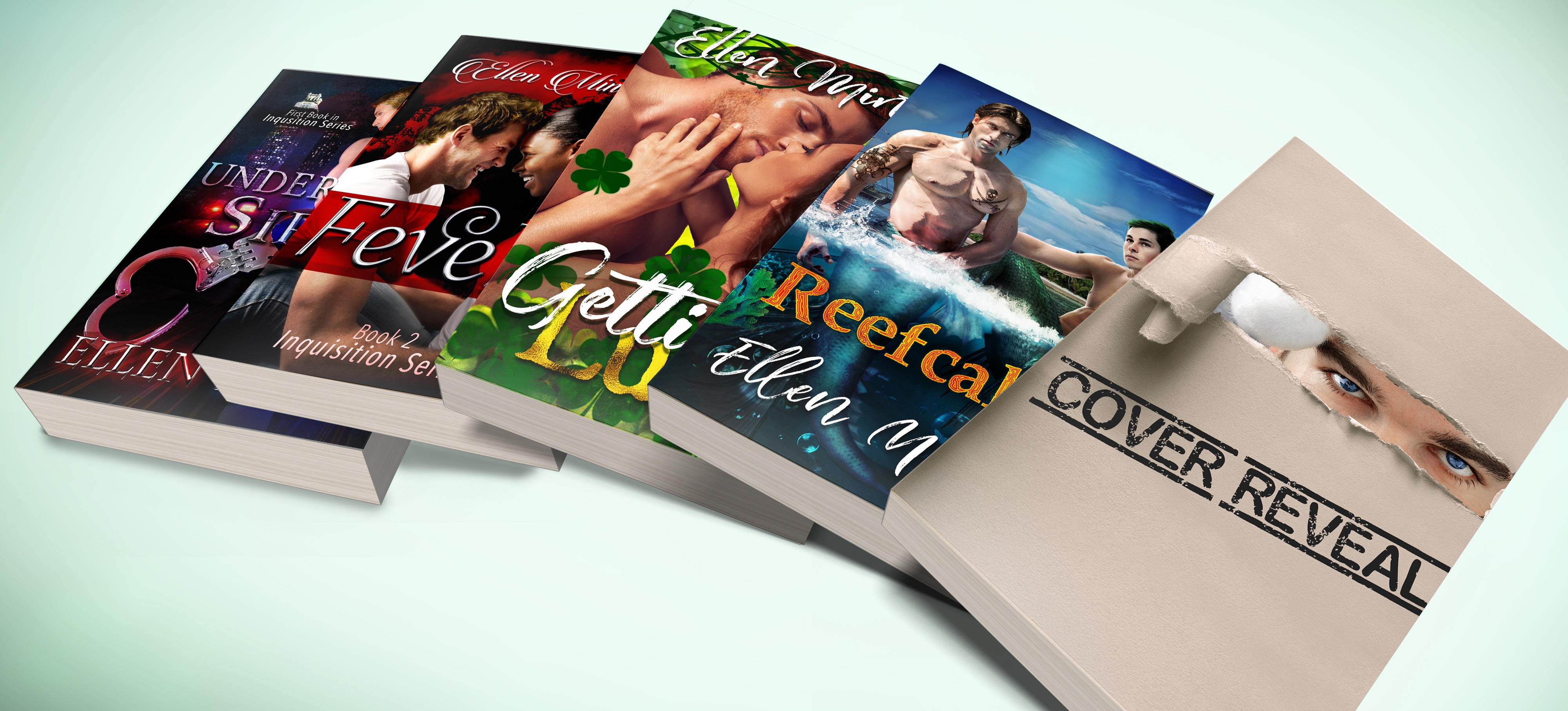 Possible books available including Undercover Siren, Fever, Gettin' Lucky, Reefcake, and one to be seen soon