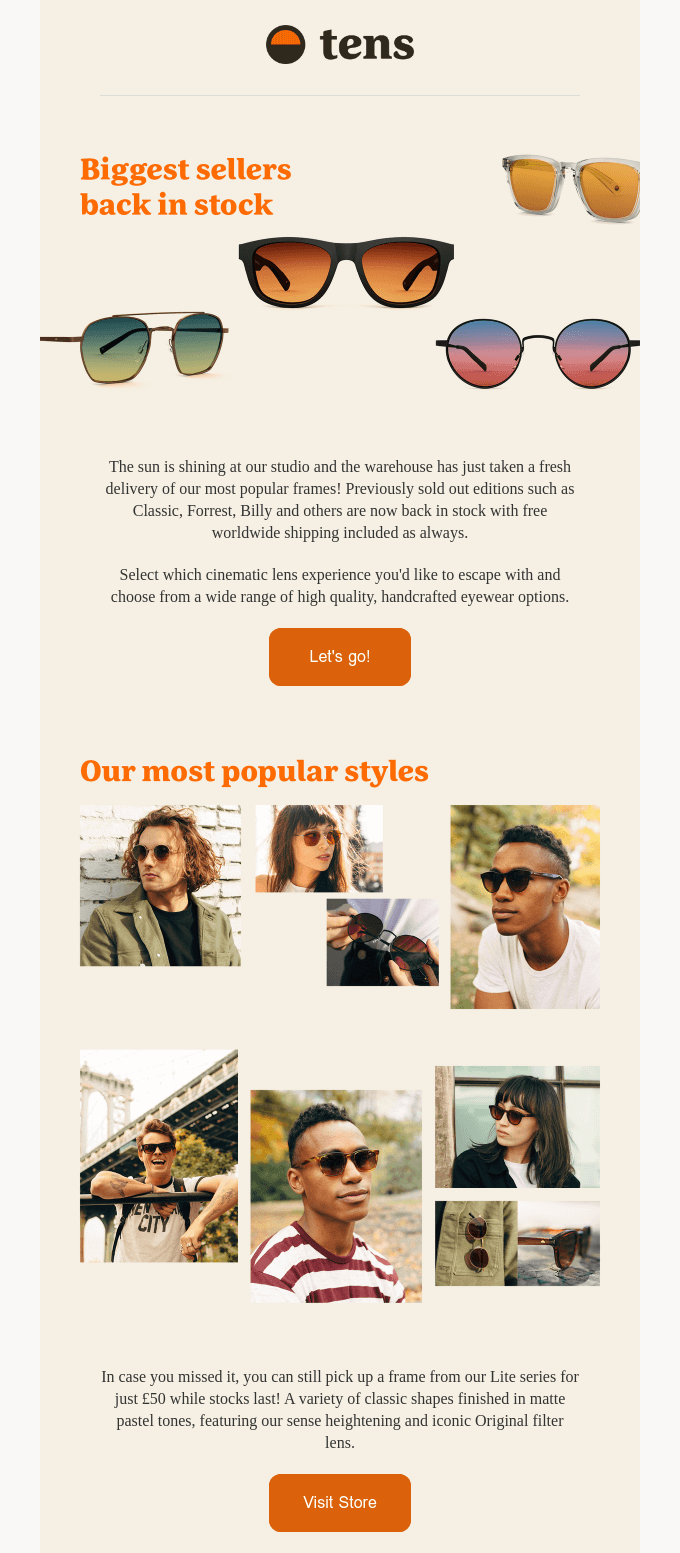 Email Marketing for Shopify: Tens Example