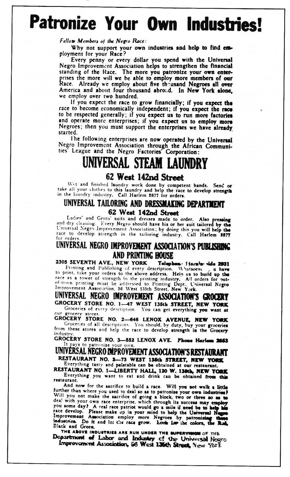 the marcus garvey and universal negro improvement association papers 1 i late in the winter of 2005, i saw a notice in a philadelphia paper for an upcoming exhibit on marcus garvey and his organization, the universal negro improvement.