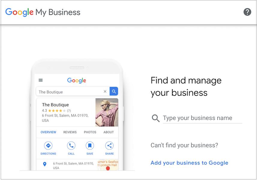 Thiết lập và tối ưu hóa hồ sơ Google Doanh nghiệp của tôi là một cách quan trọng để hiển thị trên Google local 3 pack.