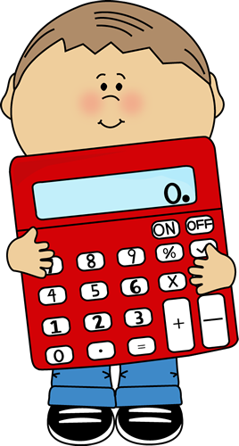 Image of student holding calculator