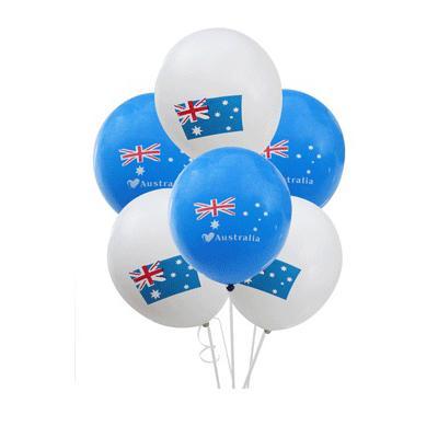 Discount Party Supplies Australian Flag Latex Balloon