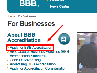 apply for bbb accreditation chicago