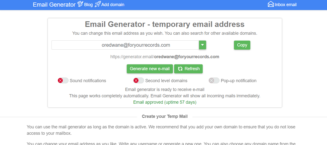 fake email generator