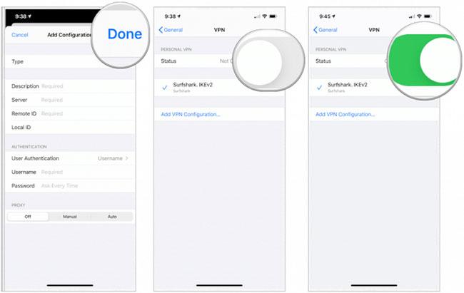 Thiết lập VPN trên iOS