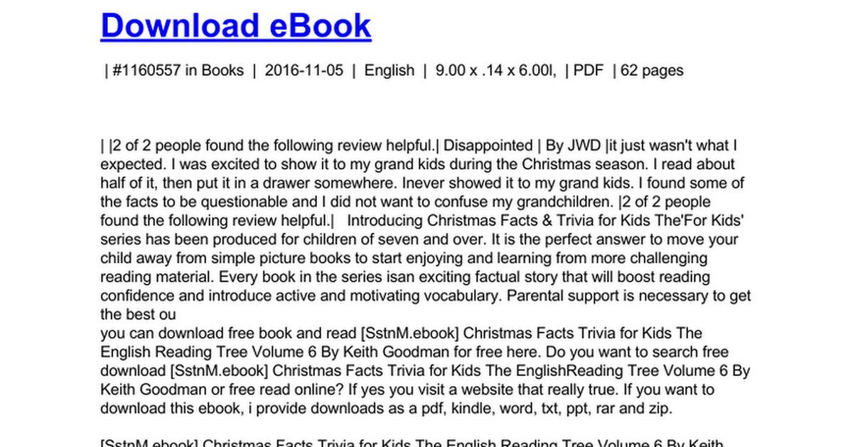 Christmas Trivia Facts.Christmas Facts Trivia For Kids The English Reading Tree
