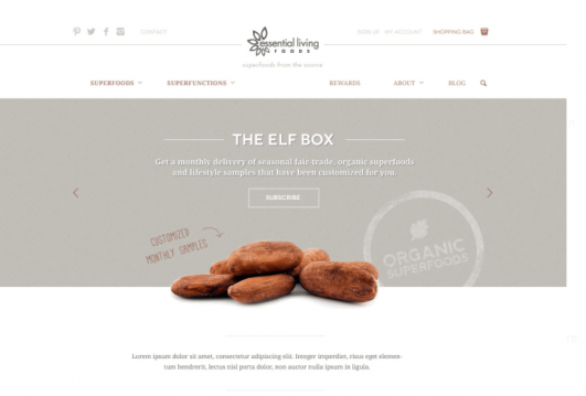 The choice of combinations in web design: neutral colors