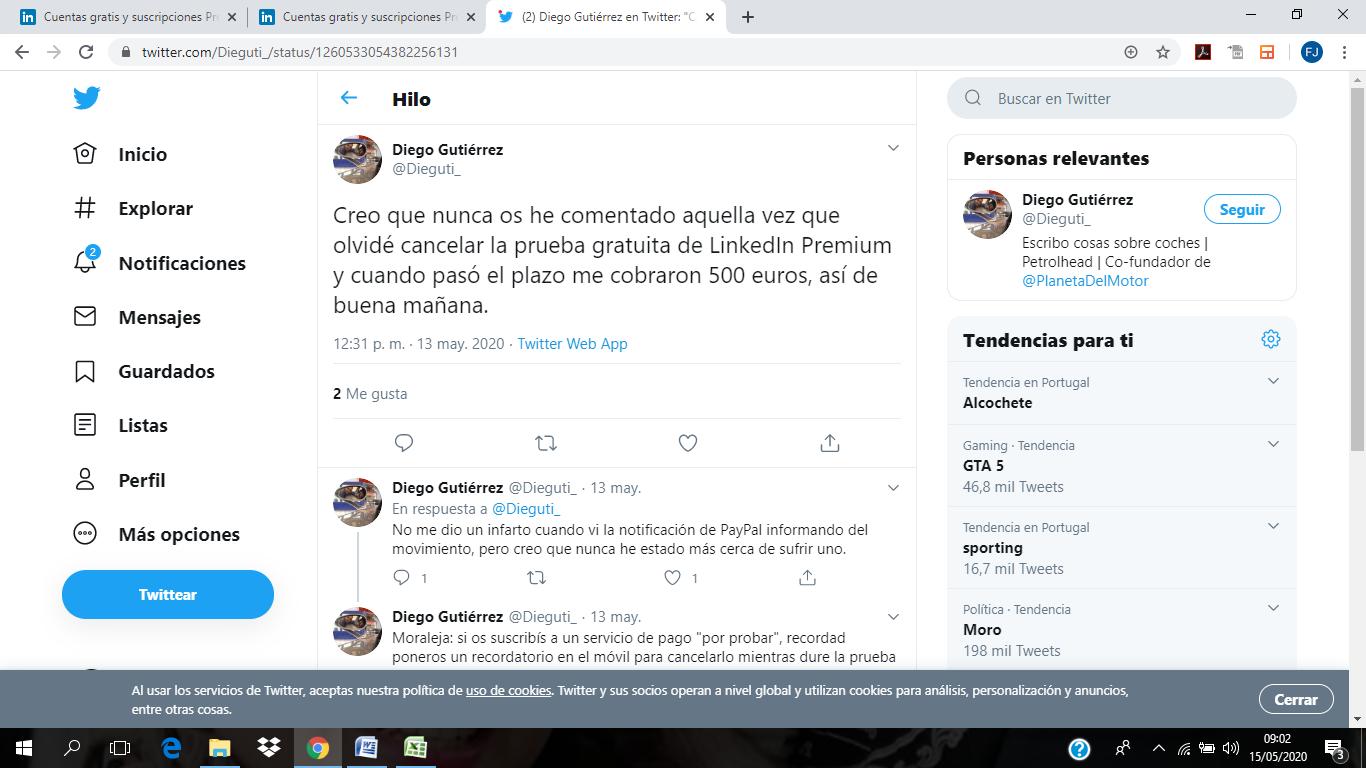 linkedin premium valoracion