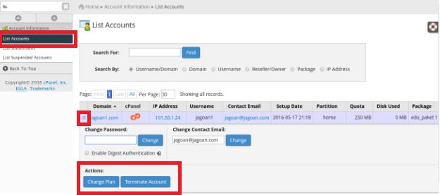 edit Account Hosting