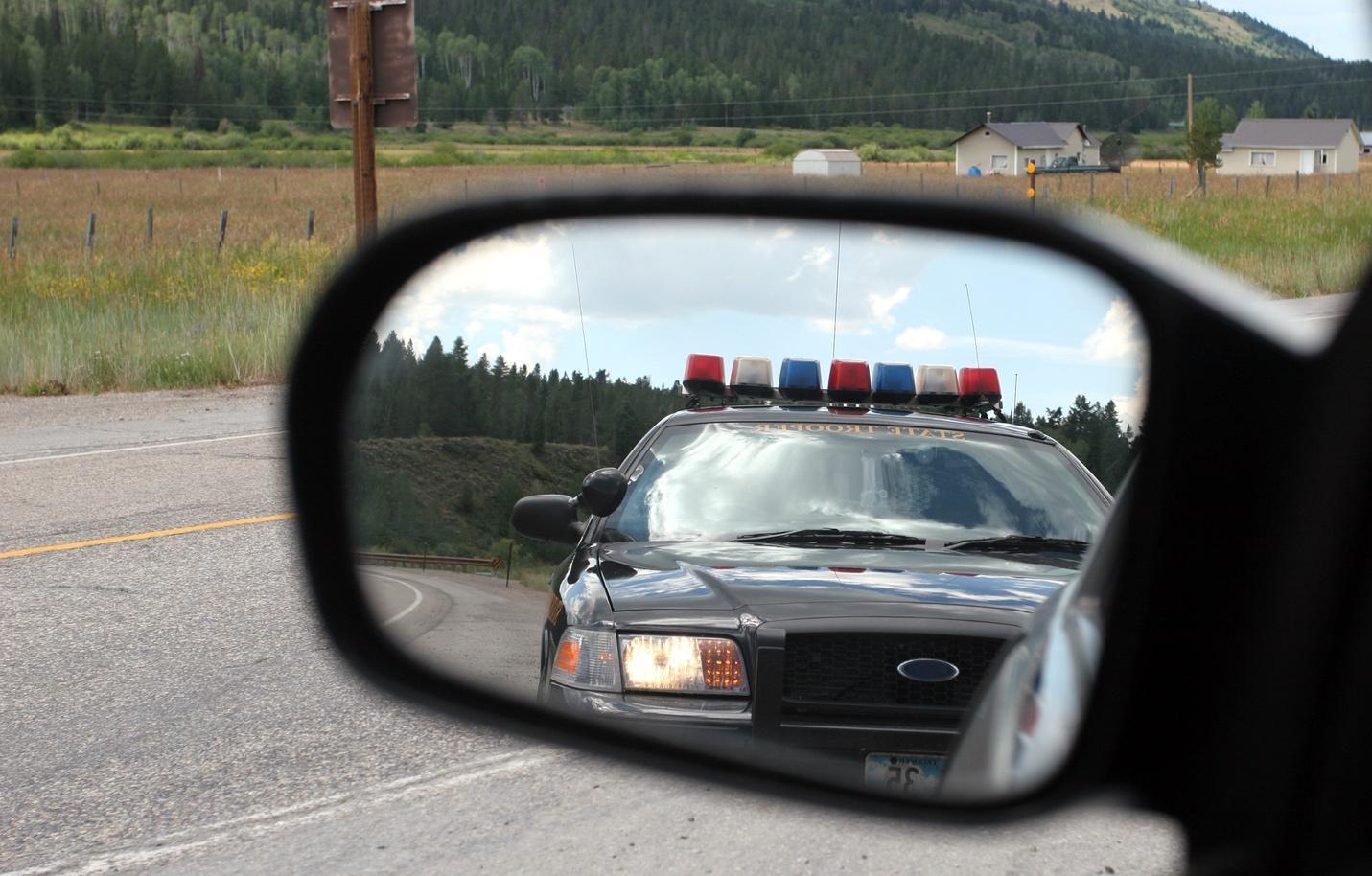 Image result for pulled over by police