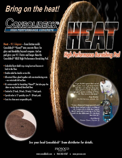 2-sided sell sheet on Consolideck heat pads