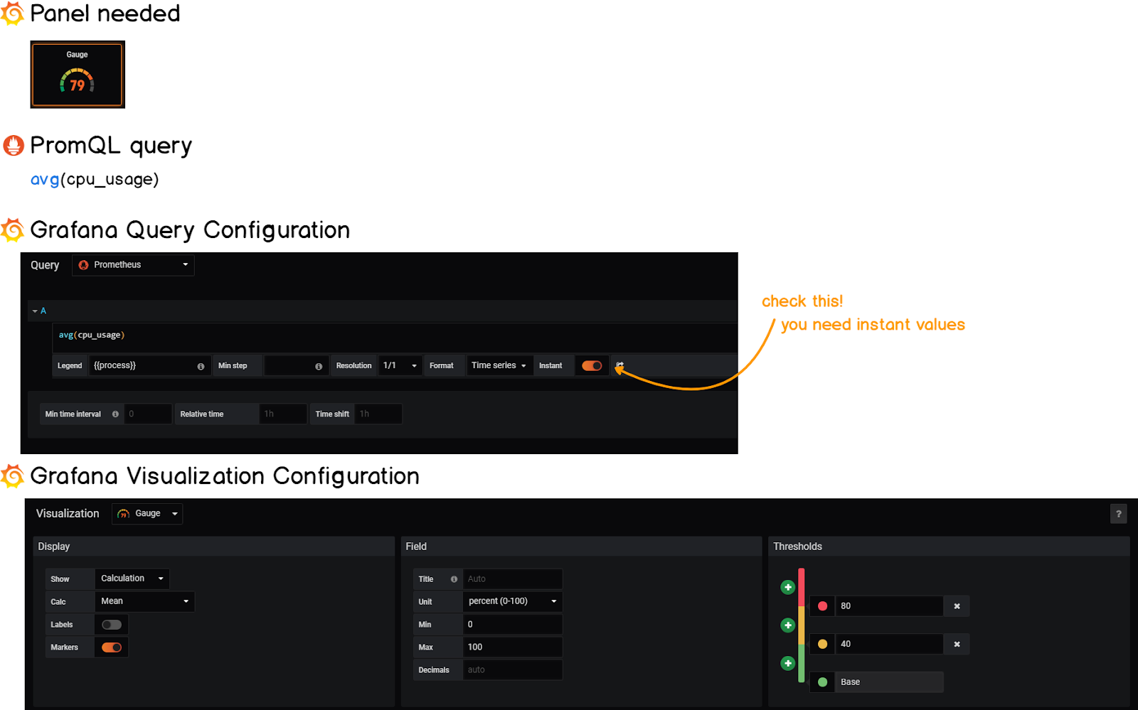 Grafana gauge cheatsheet 2