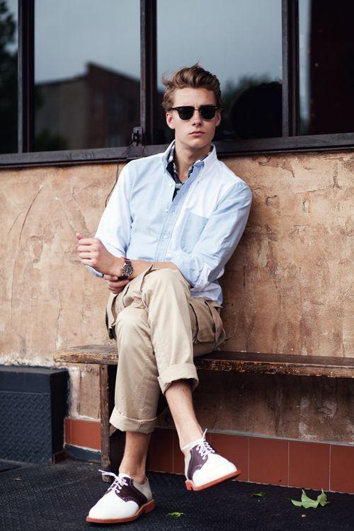 Man in preppy clothes