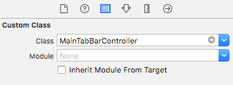 Set the class to MainTabBarController