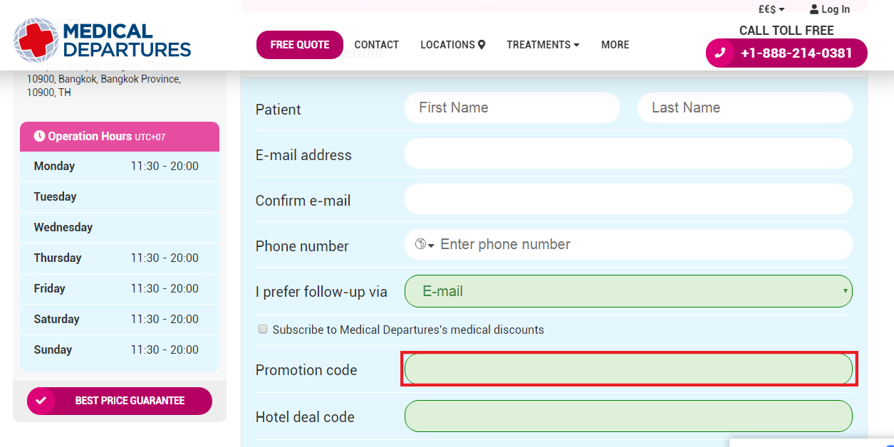 All Medical Departures Promo Codes are applicable only on their official website
