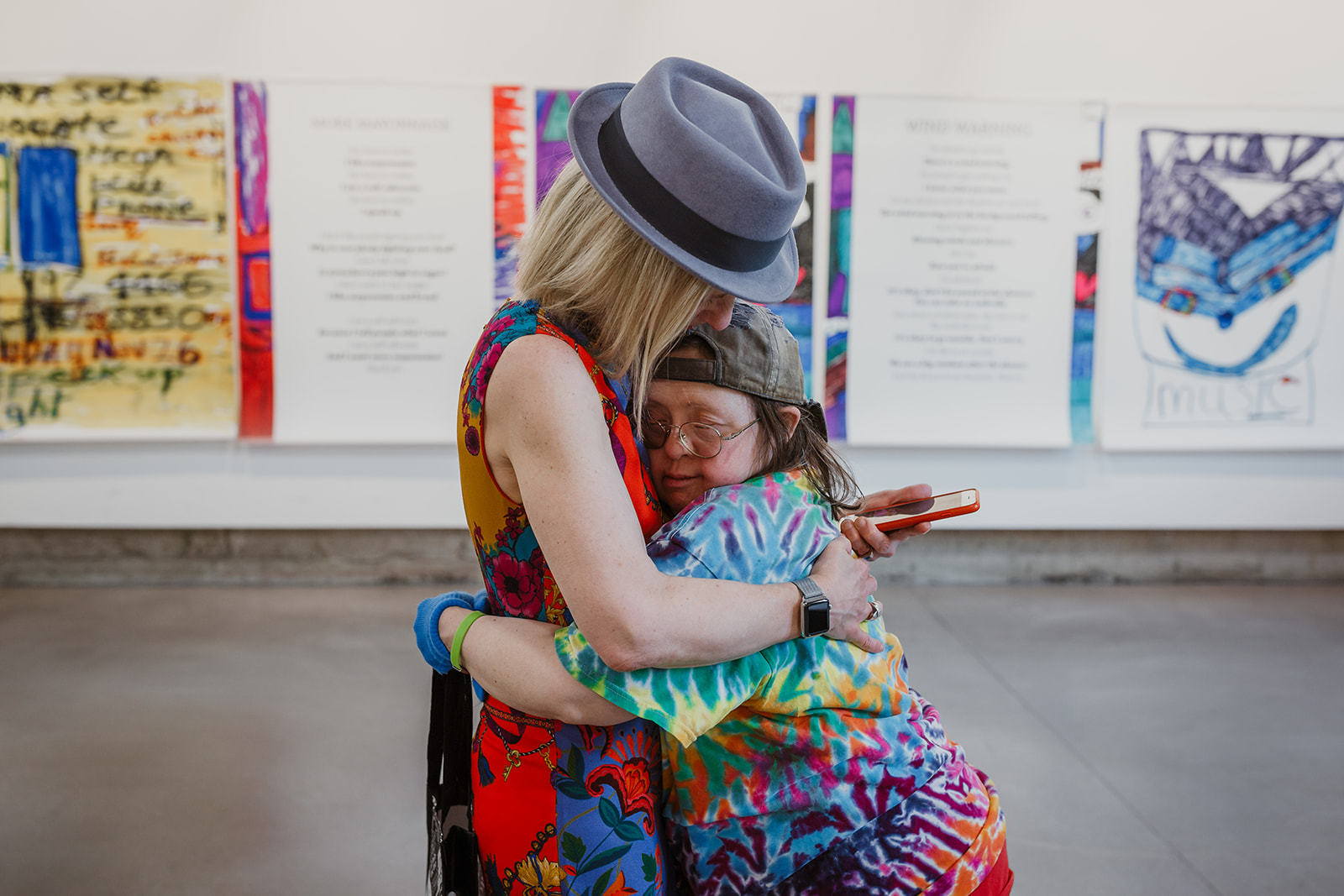 Franke James hugs her sister Teresa on July 22, 2019. Photo: This Is It Studios.