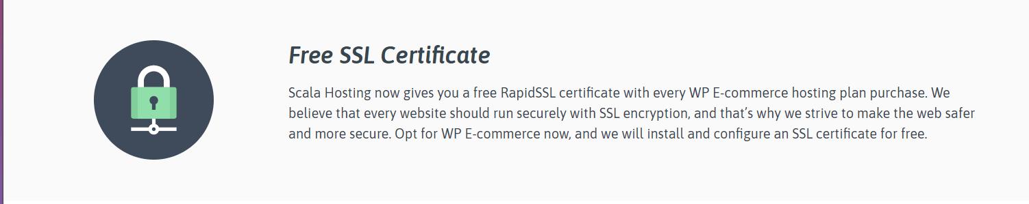 Đánh giá Scala Hosting - SSL miễn phí