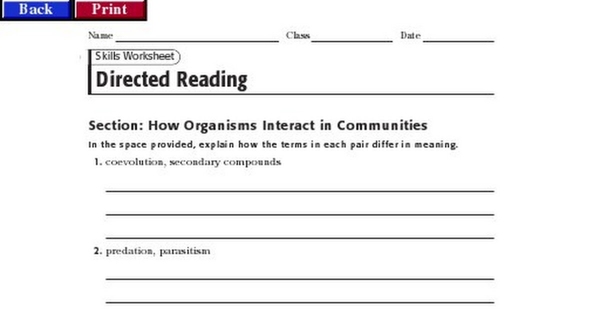 Biology 171 Reading Guidepdf Google Drive – Holt Biology Worksheets Answers