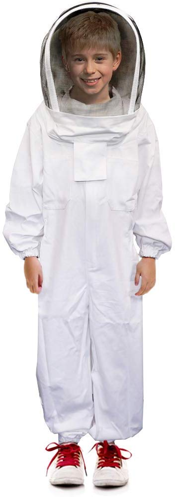 Child/'s Beekeeping Ventilated Suit with Fencing Veil S