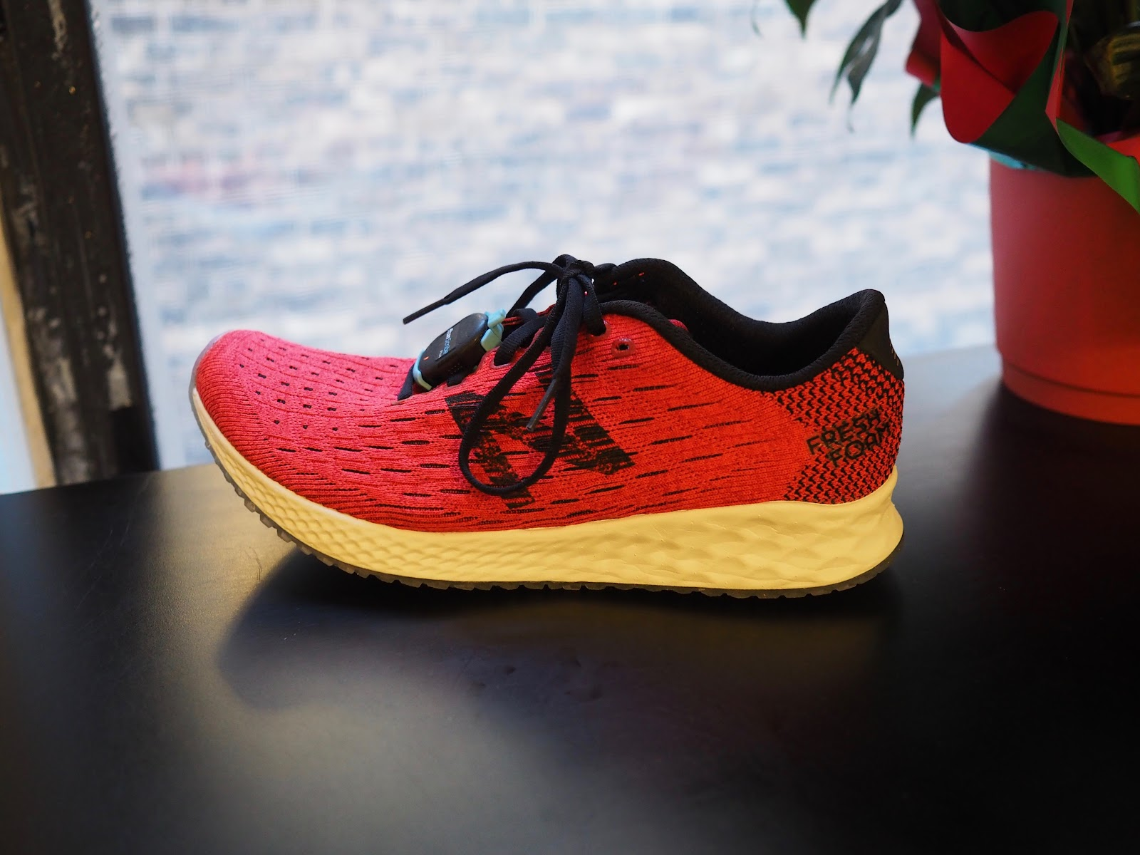 5ee7eb16b321 Derek  A very stretchy knitted upper was used for this shoe. There are  essentially no overlays over the mid- and fore-foot