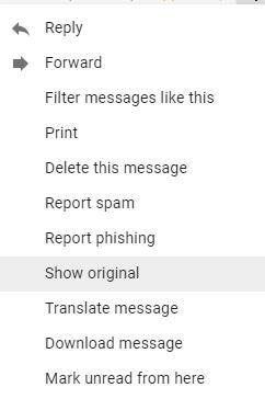 Show Original Email