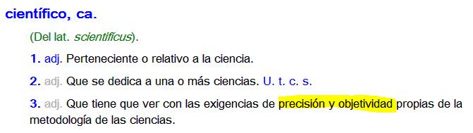 Definición científico