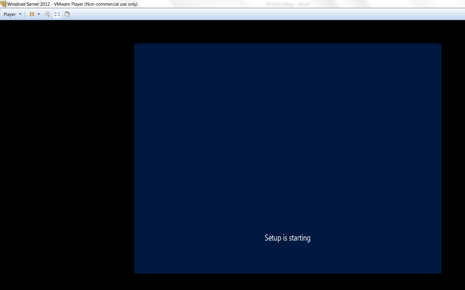 Windows Server 2012 setup is starting